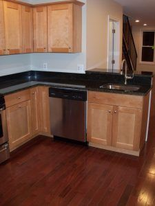 Complete home Remodeling in Federal Hill Baltimore kitchen cabinets and granite