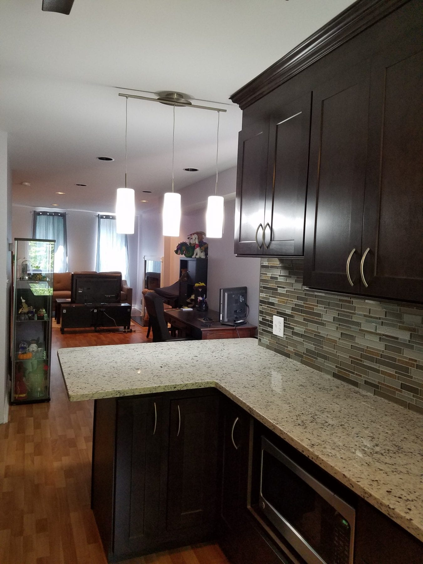 Hampden MD Kitchen Remodeling with small island and overhand 1 e1489158261571