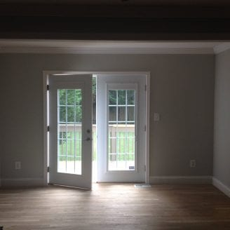 Interior of Home addition in Towson MD