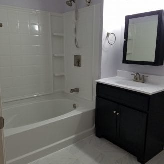 Small bath renovtion