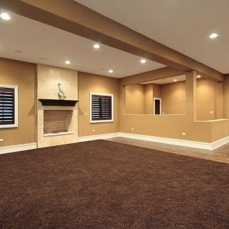 Basement Remodeling Baltimore Model Interior finished basement renovation project in baltimore | trademark