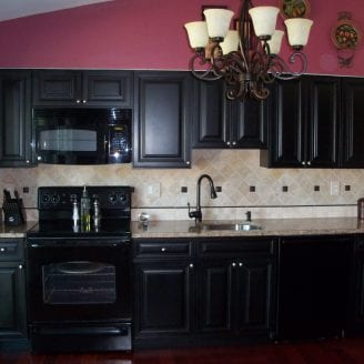 Black Kitchen remodeling in westminister MD