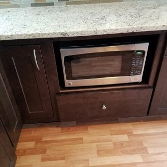 Hampden MD Kitchen Remodeling with under counter microwave