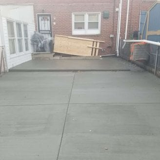 Addition Sunroom Baltimore Concrete after