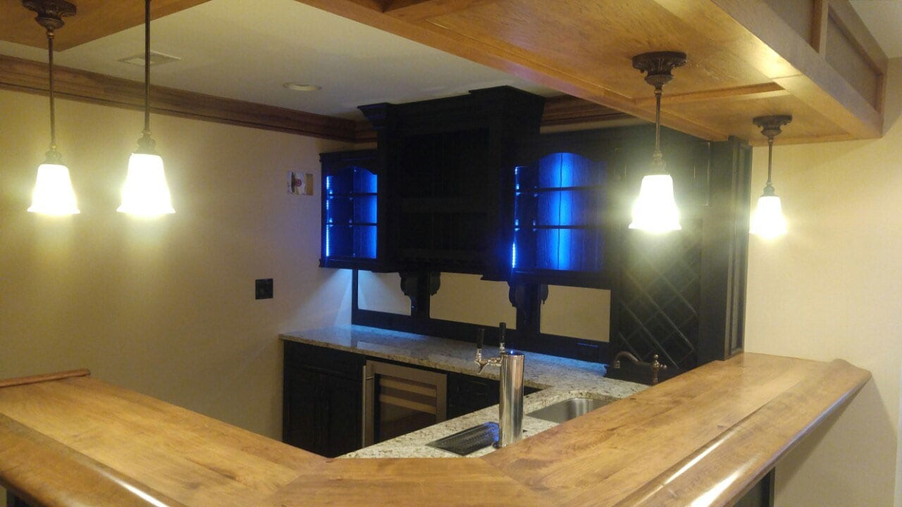 Basement Remodeling Baltimore Model Interior baltimore basement bar construction project from trademark