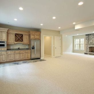 basement-finishing-in-lutherville-timonium-with-a-small-kitchen-carpet-and-nice-paint