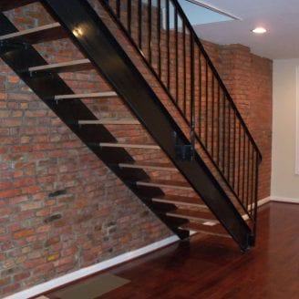 Complete home Remodeling in Federal Hill Baltimore floated stairs to 2nd floor