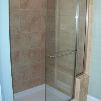Shower with seat remodeling in catonsville MD