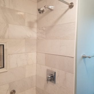 Bath Remodeling with Marble shower in Baltimore MD