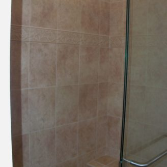 Custom shower with seat in Ellicot city MD
