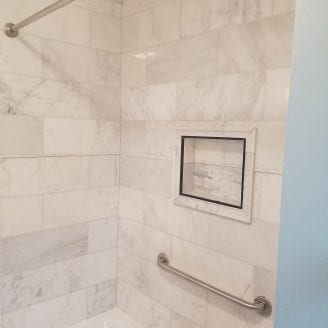 Great Marble Bath Remodel in Baltimore MD