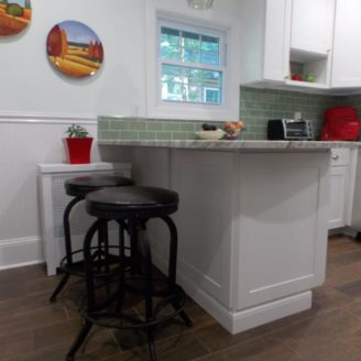 Kitchen remodeling with gray floor in Mt Washington MD