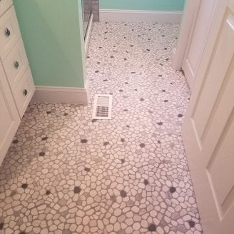 River Rocks floor Bath Remodeling in Dundalk MD