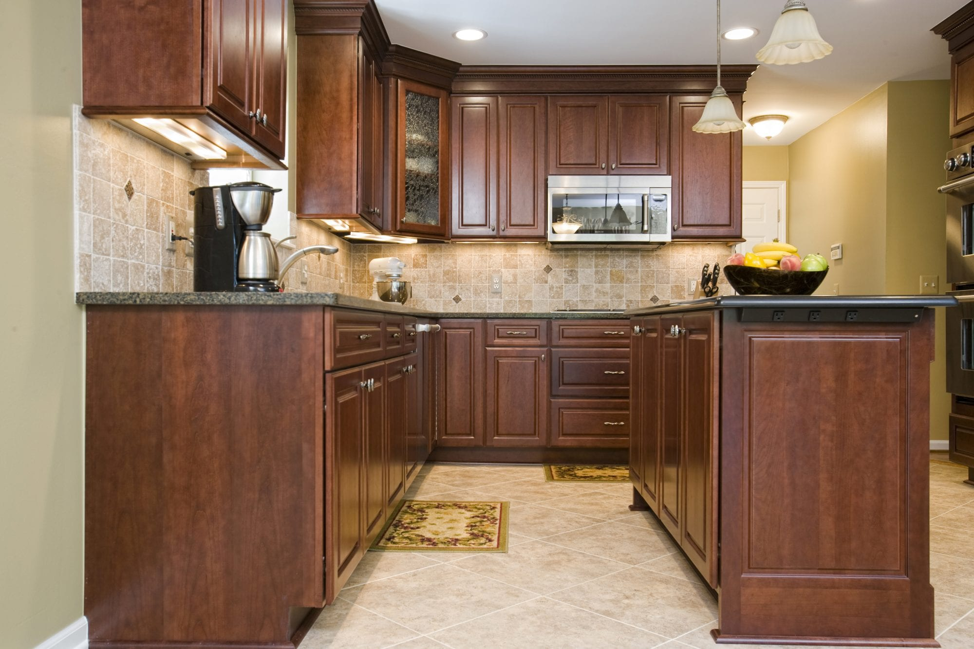 ... Tranditional Kitchen Remodeling Withy Ceramic Floor And Granite Counter  Tops
