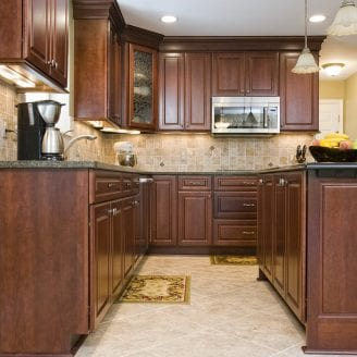Tranditional Kitchen remodeling withy ceramic floor and granite counter tops