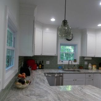 White Kitchen remodeling with Brown fantasy Granite in Mt Washington MD 4