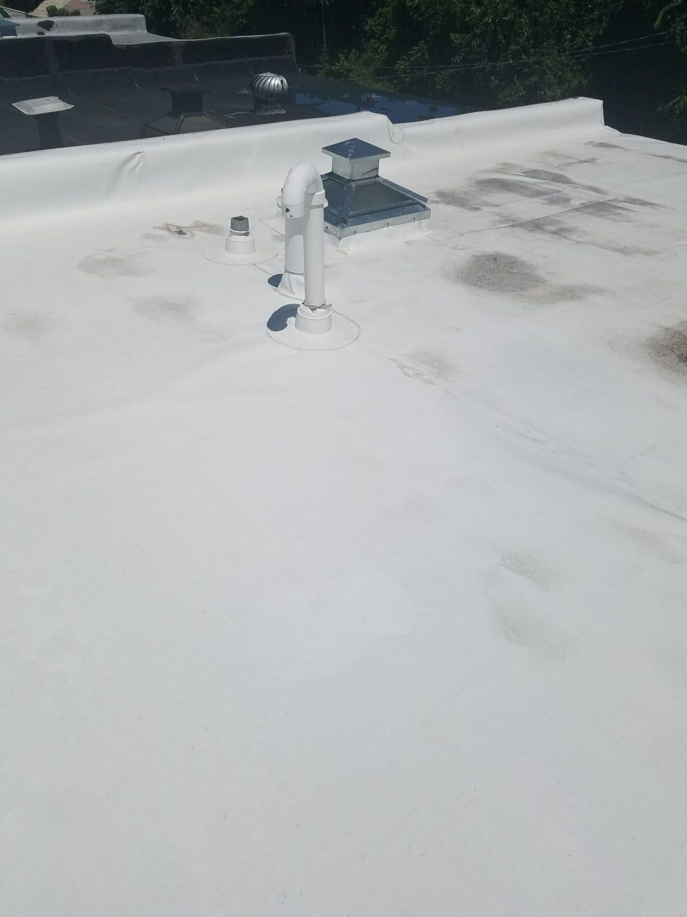 Flat Roofing Contractor Installation Trademark Construction