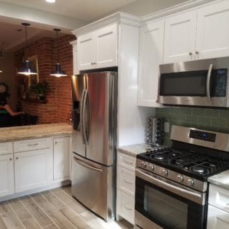 White kitchen remodel Baltimore MD