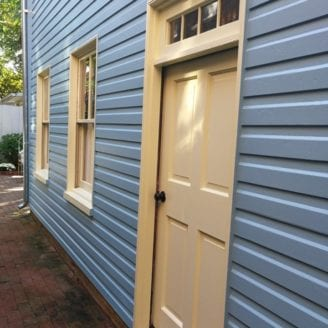 100 years old wood siding painting