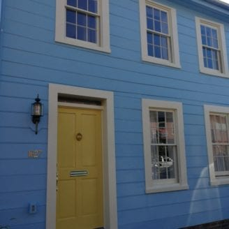 Exterior Blue Siding painting