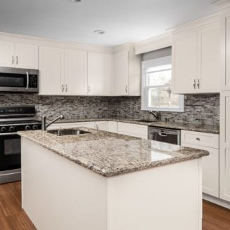 Home improvement Contractor - White kitchen Remodel