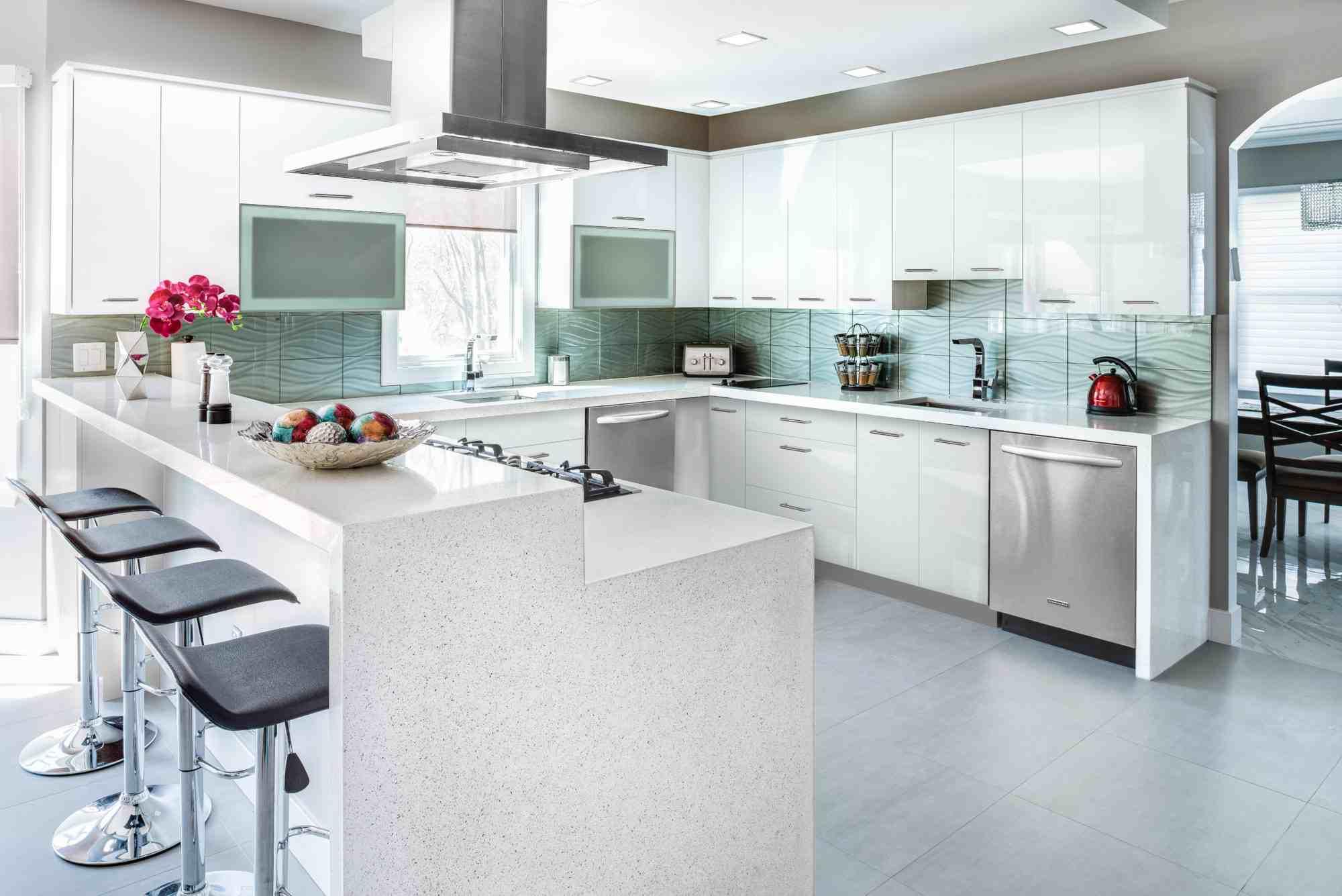 Home Improvement Contractor  White Kitchen Remodel Prima Bianco ...
