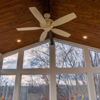 Sunroom ceiling idea