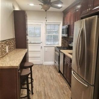 Small kitchen floor