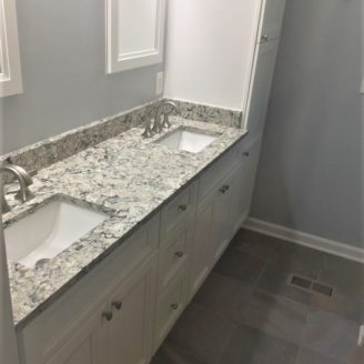 double sink master bath remodel