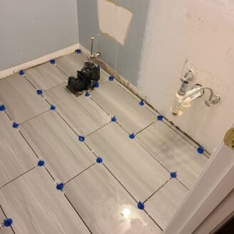 Tile installation