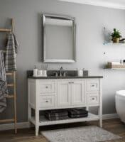 vanity cabinet white modern