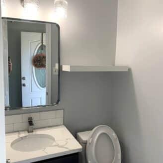 [Powder room remodeling