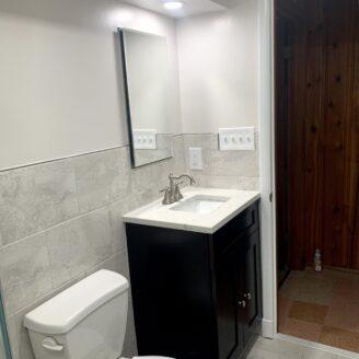 Basement bathroom renovation