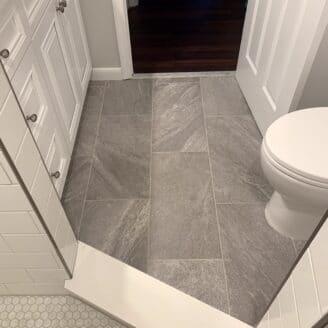 Porcelain bathroom floors